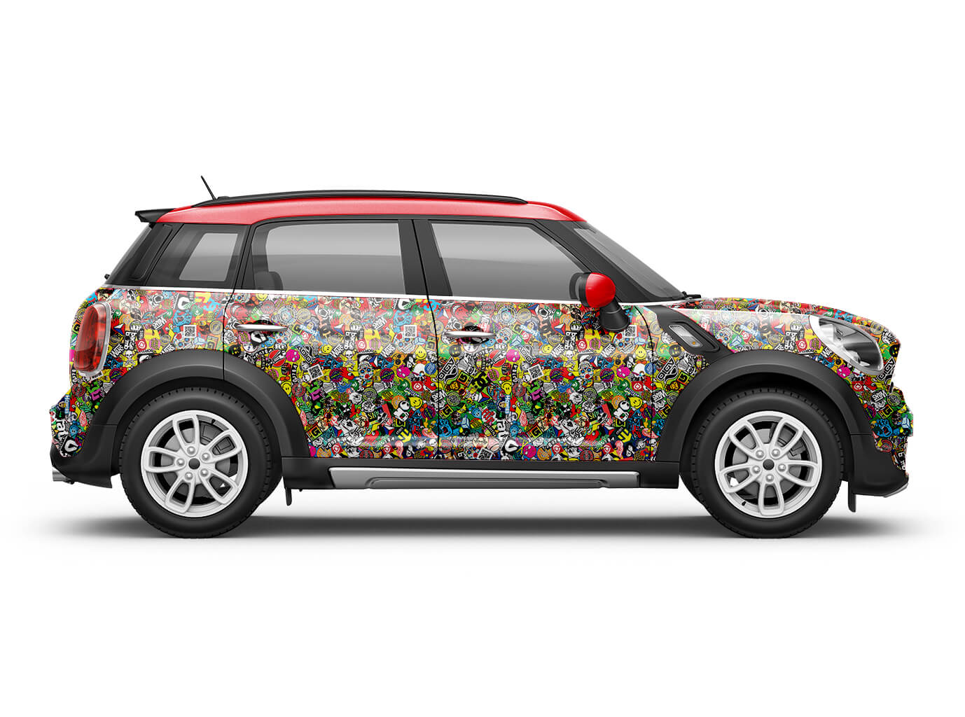 JDM Autofolie Sticker Bomb  3D Car wrapping Blasenfrei Skate Stickerbomb Folie